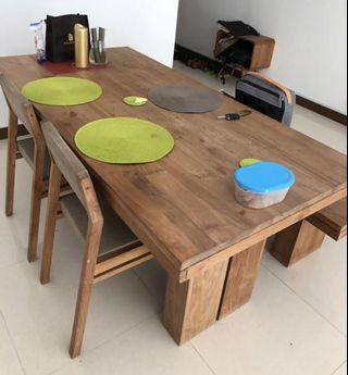 Originals/Ethnicraft Natural Teak Dinning Table