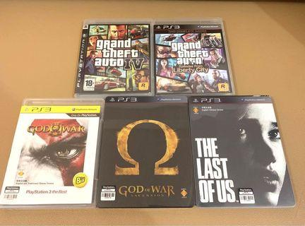 PS3 Games GTA 4 絕版 The last of us 珍藏 God of war