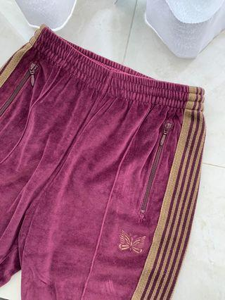 a85f04d8efc0 Needles by Nepenthes Velour Narrow Trackpants