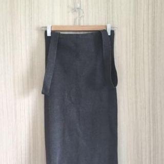 Shopeverydaypeople suspender skirt grey S
