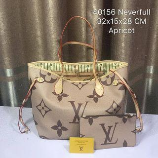 LV NEVERFULL APRICOT BAG