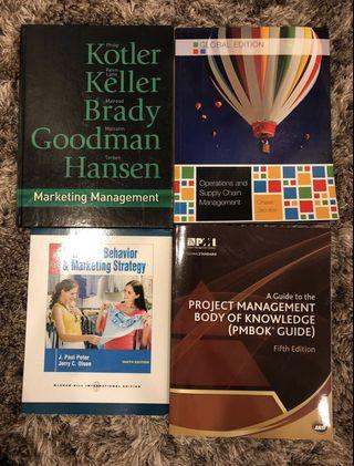 Marketing, Project Management, Supply Chain textbooks