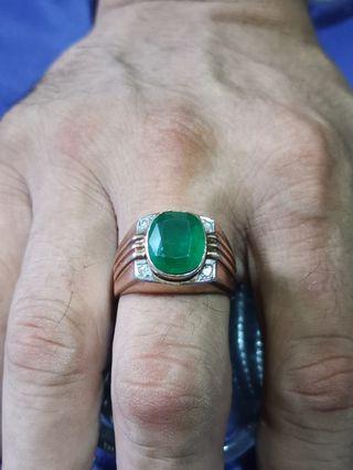 🚚 Emerald ring 9k men