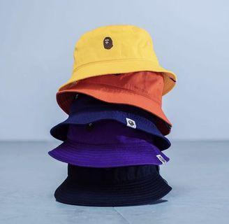 Bape Ape Head Embroidery Bucket Hat