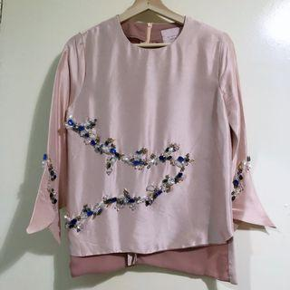 Mimpikita Bespoke Beaded Top in Dusty Pink