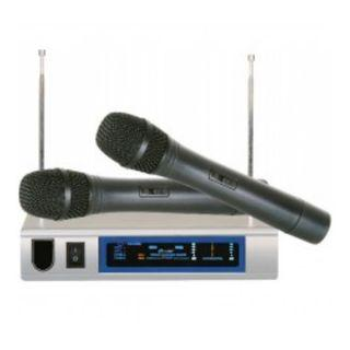 Wireless Dual Handheld Microphone/Cordless Microphone
