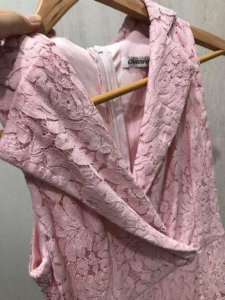 Dress jumpsuit Lace in Pink
