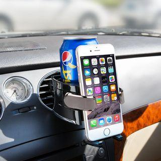 BESTEK Smart Drink & Phone Clip-on Holder COMBO Car Air Vent Mount