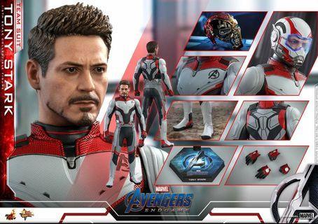 Hottoys mms 537 avengers endgame ironman tony stark team suit 量子服 訂單一張