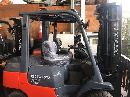 Toyota 2.5 ton forklift sales