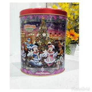 Tokyo Disney Sea Christmas 2014 Collectable Storage Tin Box