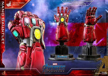 Hottoys acs008 avengers 1/4 nano gauntlet movie promo 訂單一張