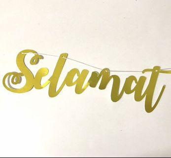 Customised curvise Lettering Gold Banner