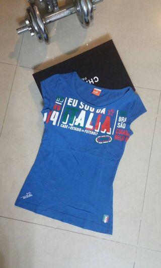 PUMA 女藍色短袖圓領T恤XS
