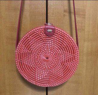 BN Red Rattan Bag