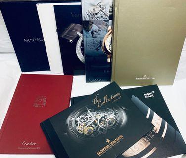 手錶圖鑑/ 錶書/ watch book/ Cartier /mont blanc/ VC/ van cleef