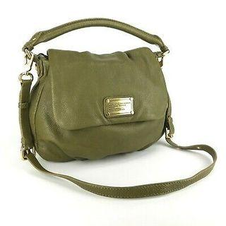 Marc by Marc Jacobs Classic Q Lil Ukita Green Pebbled Leather Crossbody Bag