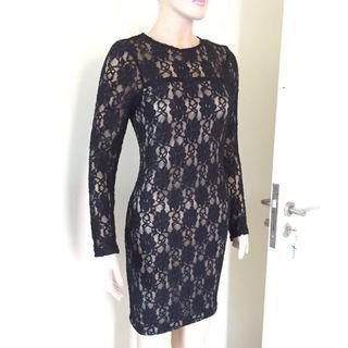 NEW ORI dress zara black hitam broklat
