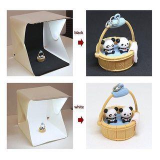 40cmX40cm portable & foldable light box(with LED lamp)/ 便𢹂摺疊式攝影棚/