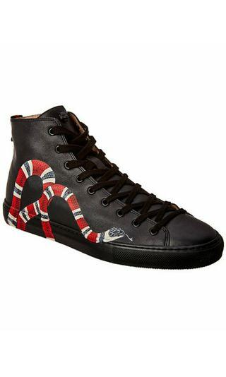 🚚 PRE ORDER Gucci Kingsnake Leather High-Top Sneaker