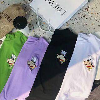 Crayon Shin Chan Embroidered Tee Shirt