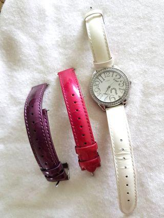 Guess Ladies Watch with interchangeable straps