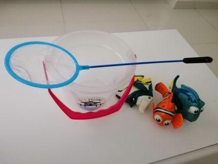 Set of Assorted Fishing Toys