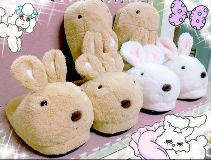 🚚 絨毛兔子Joy Rabbit室內拖鞋/造型拖鞋