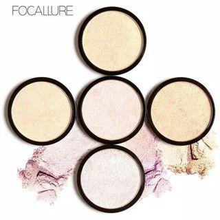 FOCALLURE Highlighter Waterproof Specular Powder Contour Makeup Powder Kosmetik Untuk Lebaran