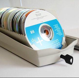 透明/可鎖/方便查閱/光碟/CD/VCD/DVD/光碟收納盒(50片)
