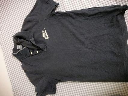 Nike black polo tee