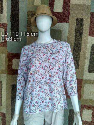 Flower Top wanita preloved japan