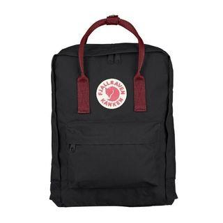 Kanken Classic backpack black ox red / forest green ox red