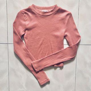 🚚 Pink Cropped Pullover