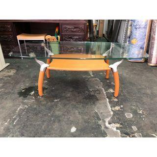 非凡二手家具 玻璃造型大茶几*沙發桌*辦公茶几*和室桌*茶几桌*客廳桌*泡茶桌*餐桌*