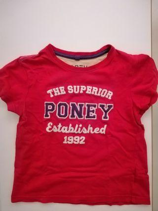 Poney red tee