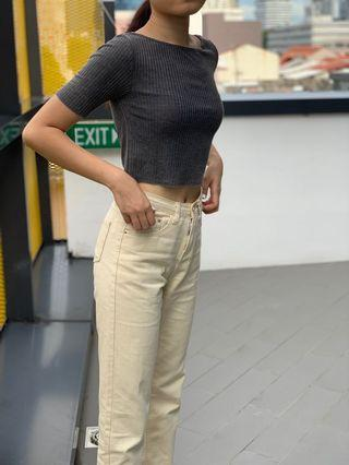 Topshop ribbed cropped top