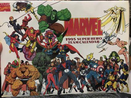 🚚 Marvel 1995 Super hero Team Calendar