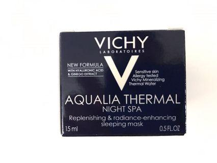 Vichy Aqualia Thermal Night Spa Replenishing & Radiance enhancing sleeping mask (15ml) 溫泉礦物保濕SPA睡眠面膜