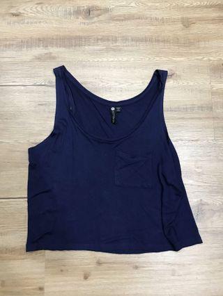 [4 for $10] cotton on navy tank