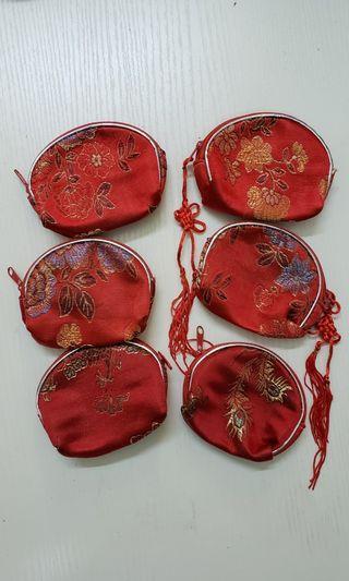 散子包 紅色小袋