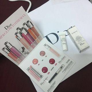 Dior護唇四色卡+柔膚萃