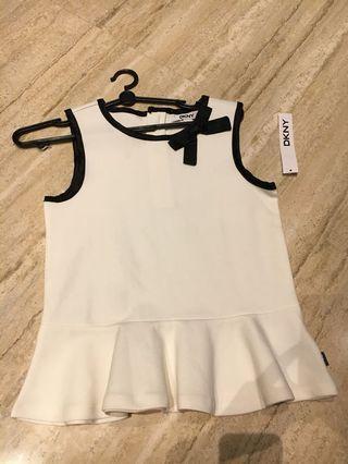 🚚 DKNY Girls White top