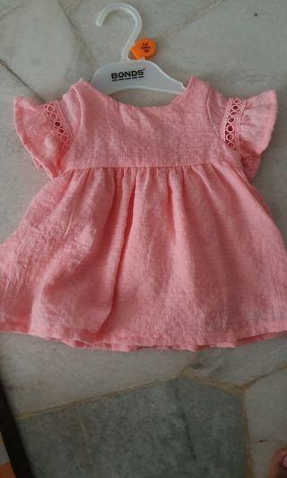 Baby dress peach