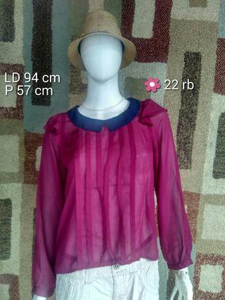 ATASAN BLOUSE WANITA PRELOVED JAPAN