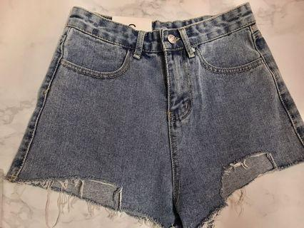 Brand new denim ripped jeans short pant