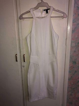 BNWOT Mango White Cocktail Halter Dress Formal/Semi Formal/Casual