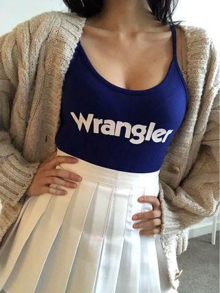 Wrangler bodysuit navy white