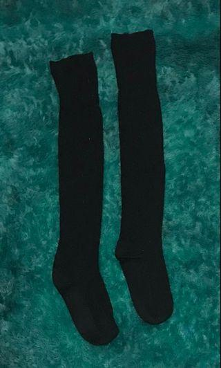 Black Knee-High Socks