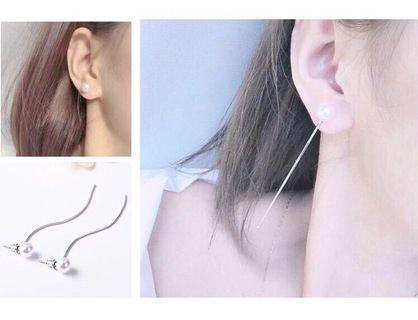 BN Pearl drop down earring